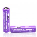 efest purple imr 18650 2500mAh 35A