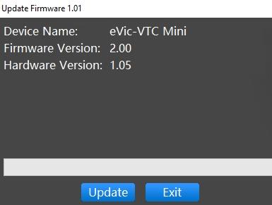 ouvrir firmware v3 evic vtc mini