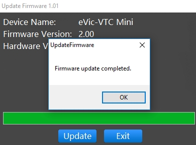 update firmware v3 evic vtc mini